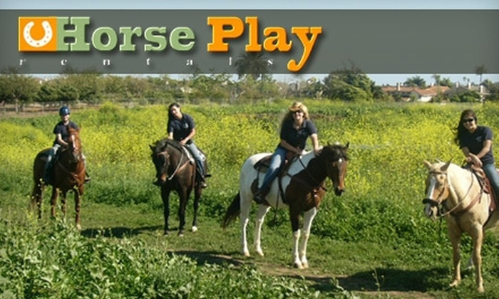 Horse Play Rentals - Huntington Beach: $25 for One-Hour Guided Trail Ride on Horseback with Horse Play Rentals ($55 Value)
