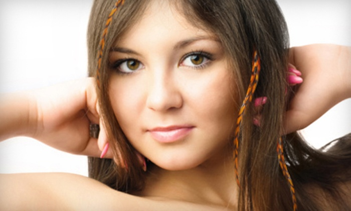 Ferricchia Hair Salon - East Bayside - India Street: Three Feather Extensions or a Custom Phyto Hair Treatment at Ferricchia Hair Salon