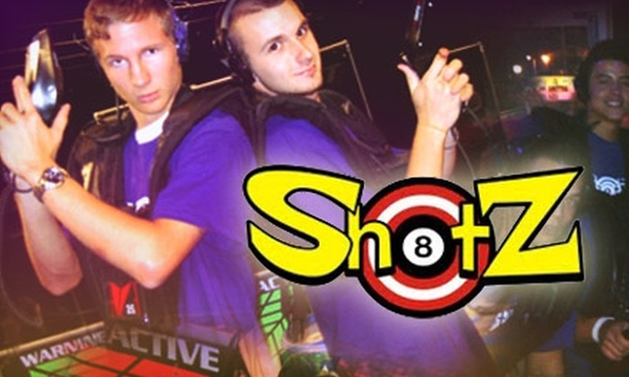 Shotz Lazer Tag and Billiards - Powers: $14 for Four Games of Laser Tag at Shotz Lazer Tag and Billiards