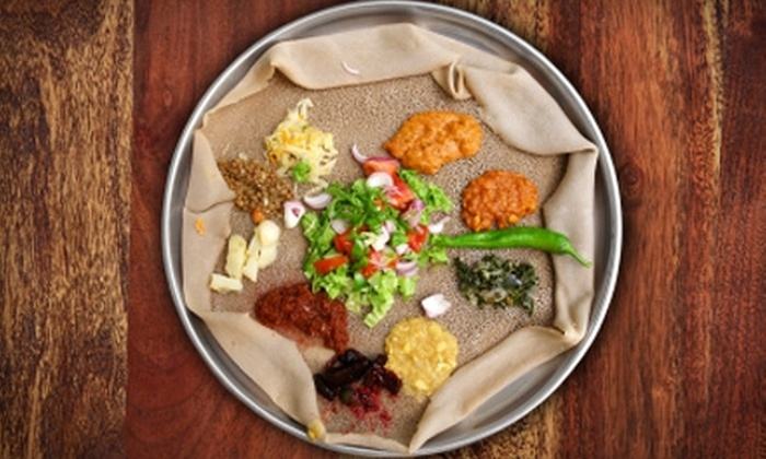 Queen Sheba - Southwestern Sacramento: $12 for $25 Worth of Ethiopian Cuisine and Drinks at Queen Sheba in Davis
