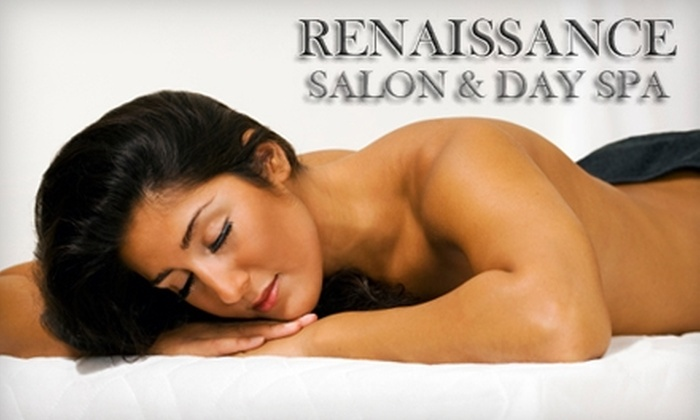 Renaissance Salon & Day Spa - Visalia: $40 for Treatment Facial ($85 Value) or Massage ($80 Value) at Renaissance Salon & Day Spa