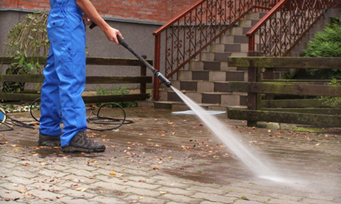 Under Pressure SC - Multiple Locations: Pressure Washing for a One- or Two-Story Home, Driveway, and Porch or Deck from Under Pressure SC (Up to 52% Off)