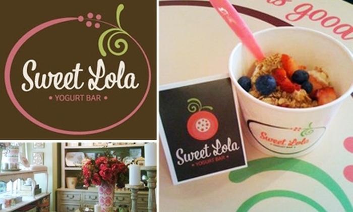 Sweet Lola Yogurt Bar - Midtown: $5 for $12 Worth of Healthy Treats at Sweet Lola Yogurt Bar