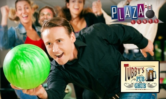Plaza Lanes Bowling Center - Saint Charles: $7 for $14 Worth of Bowling at Plaza Lanes Bowling Center or $10 for $20 Worth of Grilled Fare and Drinks at Tubby's Pub n' Grub
