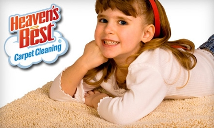 Heaven's Best Carpet Cleaning - Original Town North: $50 for Three Rooms of Carpet Cleaning from Heaven's Best Carpet Cleaning ($120 Value)