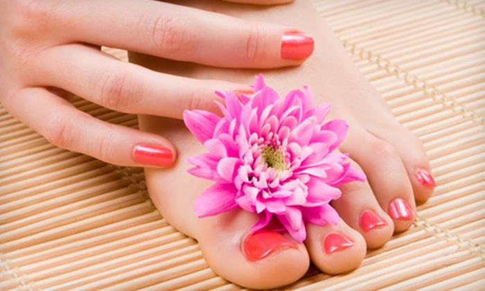 Angela Nails and Spa - Cypress Park: Deluxe Pedicure with Optional Gel Manicure, or Gel Manicure with Luxury Pedicure at Angela Nails and Spa (Up to 52% Off)