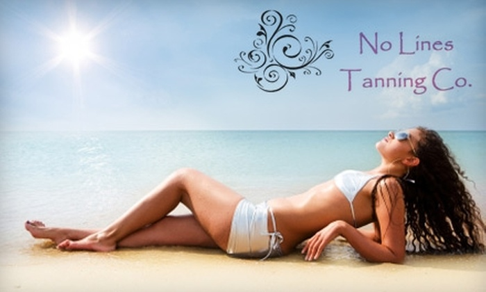 No Lines Tanning - Deerfield: $18 for Two Custom Spray Tans with PH Primer at No Lines Tanning (a $50 value)