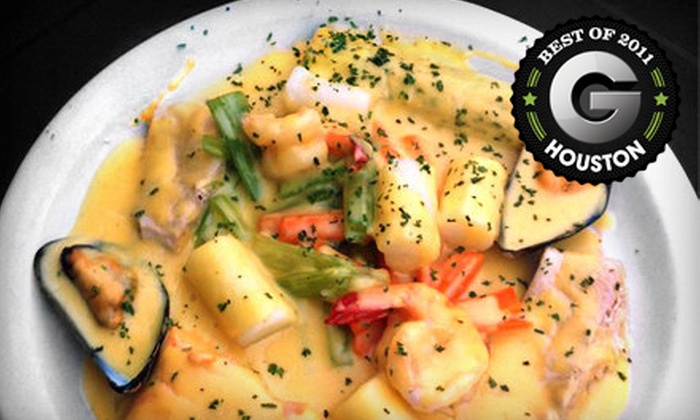 The Broken Spoke Cafe - Washington Ave./ Memorial Park: Three-Course Dinner for Two or Four or Belgian Lunch Fare for Two or Four at The Broken Spoke Cafe (Up to 53% Off)