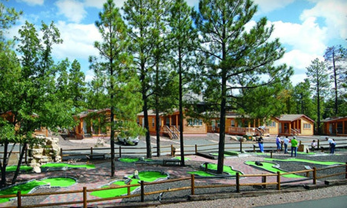 PVC at The Roundhouse Resort - Pinetop, AZ: Two-Night Weekday or Weekend Stay in a Cabin with Bottle of Wine at PVC at The Roundhouse Resort in Pinetop (Up to 66% Off)