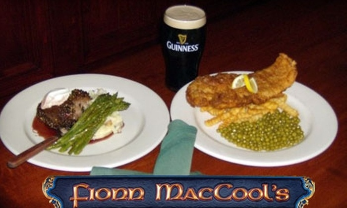 Fionn MacCool's Irish Pub & Restaurant - Jacksonville Beach: $15 for $30 Worth of Authentic Irish Cuisine and Drinks at Fionn MacCool's Irish Pub & Restaurant