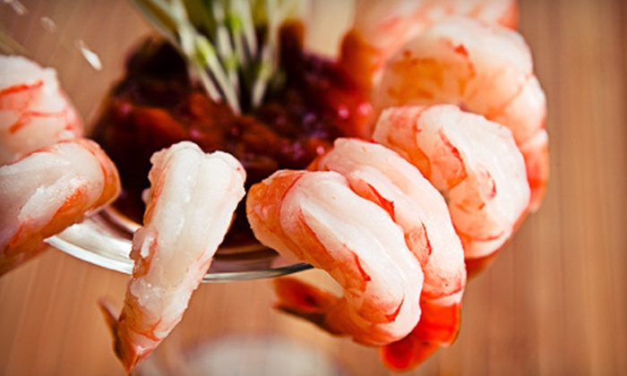 Sharky's American Grill - Lake Houston: $36 for a Three-Course Seafood Dinner for Two at Sharky's American Grill (Up to $73.75 Value)