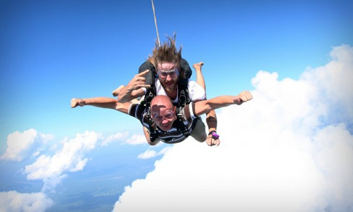 Skydive Barnstable - Cape Cod Airfield: Tandem Skydive for One on a Weekday or Weekend at Skydive Barnstable (36% Off)