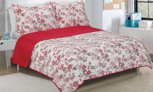 Glory Home Designs Reversible Quilt Set (3-Piece)