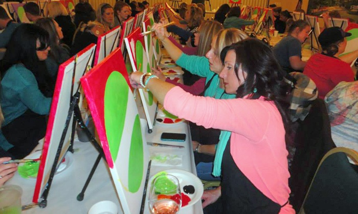 Wine and Palette Oklahoma - Multiple Locations: $17 for Social Painting Class from Wine and Palette (Up to $35 Value)
