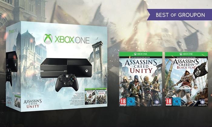 Xbox One Assassin's Creed Bundle: Xbox One Bundle with Assassin's Creed Unity and Assassin's Creed IV: Black Flag