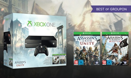 Xbox One Bundle with Assassin's Creed Unity and Assassin's Creed IV: Black Flag