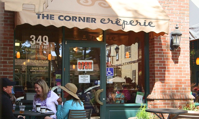 The Corner Creperie - Pleasanton: Crepes and Espresso Drinks for Two at The Corner Creperie (Up to 45% Off)