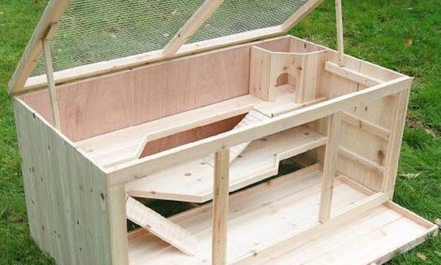 Large wooden guinea pig and hamster cage hutch for for Wooden guinea pig cage