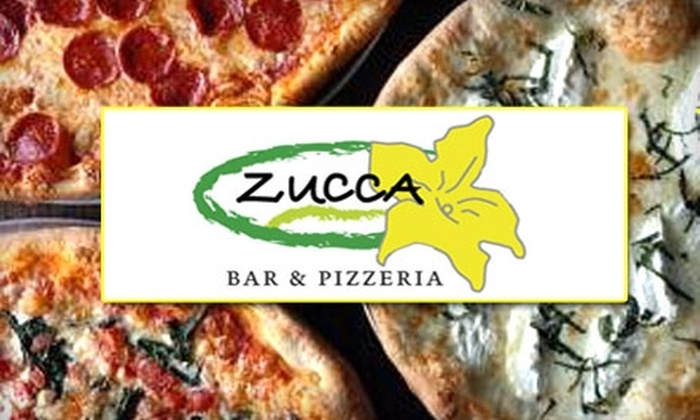 Zucca Bar & Pizzeria - Multiple Locations: $10 for $25 Worth of Authentic New York Pizza and Pasta from Zucca Bar & Pizzeria