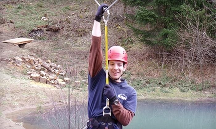Camp Dakota - Silverton: Zip Lines and Ropes Course at Camp Dakota. Choose Between Two Options.