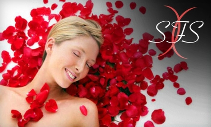 Suki Fit Spa - Fair Oaks: $89 for a La Petite Exotic Rose Facial and Your Choice of a Belgian-Chocolate Mud Wrap, Exfoliating Body Scrub, or Tea Tree Gel Wrap at Suki Fit Spa ($180 Value)