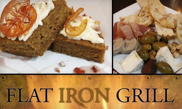 Flat Iron Grill - Gilman: $15 for $30 Worth of Gourmet Grilled Cuisine at Flat Iron Grill in Issaquah