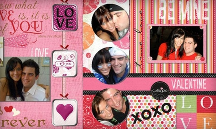 "Pages by Potter - West Bellevue: $49 for an 8""x8"" Custom Memory Digital Scrapbook from Pages by Potter ($107.38 Value)"