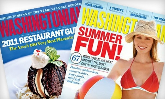 "Washingtonian: One- or Two-Year Subscription to the ""Washingtonian"" Magazine"
