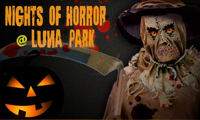 Luna Park at Coney Island - Coney Island: $15 for a One-Day Unlimited Pass to Nights of Horror at Luna Park on Coney Island
