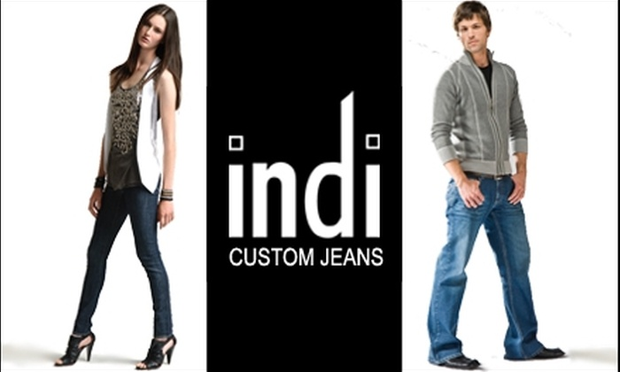 indi: $85 for $155 of Custom-Fit Jeans at indi