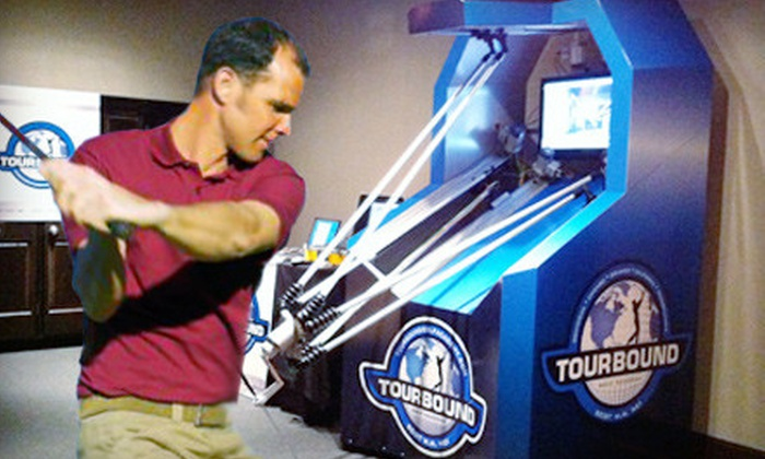 TourBound Golf Academy - The Loop: One-Hour Simulator Lesson and Swing Analysis or One-Hour Golf-Robot Lesson at TourBound Golf Academy (Up to 72% Off)