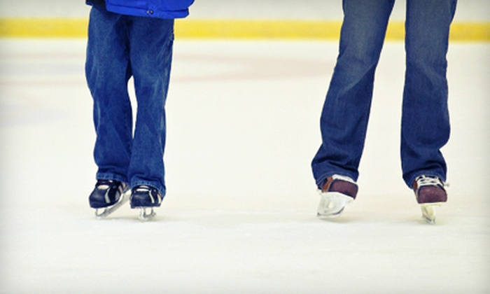 Eagles Ice-A-Rena - Eagles Ice-A-rena: One, Three, or Five Two-Person Ice Skating Passes with Skate Rental and Drinks at Eagles Ice-A-Rena (Up to 59% Off)