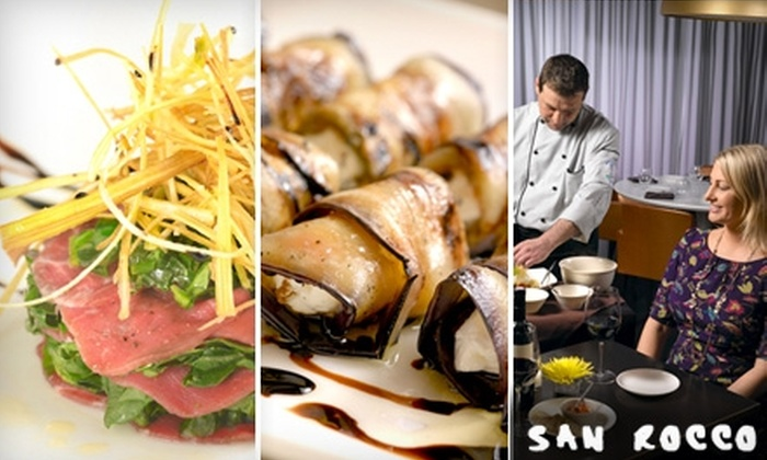 San Rocco - Midtown South Central: $20 for $40 Worth of Italian Comfort Fare and Signature Cocktails at San Rocco