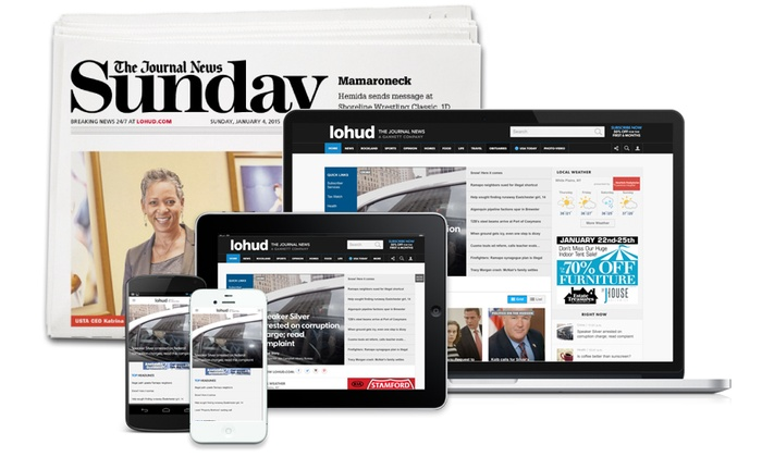 The Journal News: 26- or 52-Week Full-Access Subscription to The Journal News with Saturday/Sunday Print Delivery (Up to 90% Off)