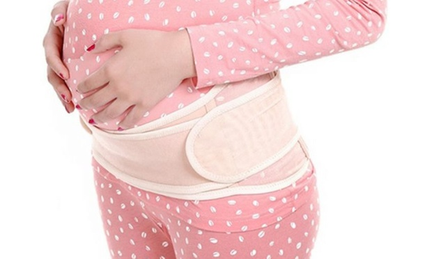 how to put on a maternity support belt
