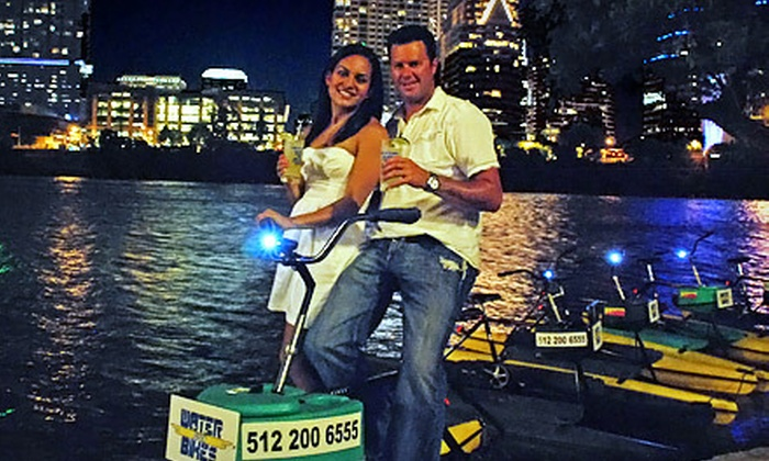 Austin Water Bikes - Bouldin: $30 for a One-Hour Water-Bike Rental for Two from Austin Water Bikes (Up to $60 Value)