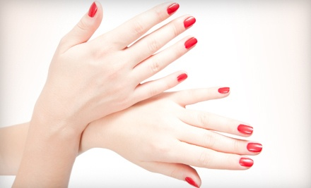 Age-Defying Collagen Manicure or Shellac Gel Manicure - Serene Scene Morning Spa in Clayton