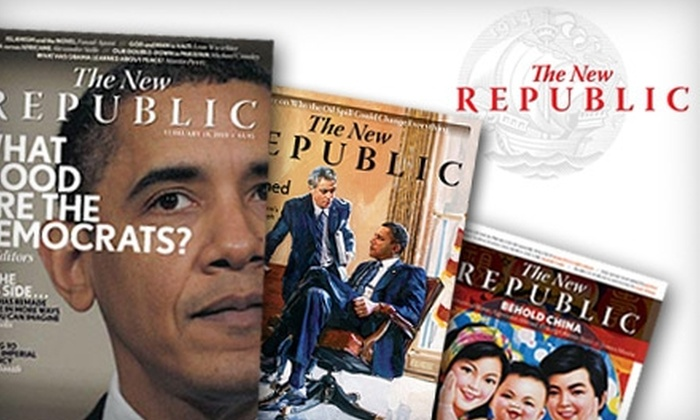 "<i>The New Republic</i> - Downtown - Penn Quarter - Chinatown: $22 for a One-Year Subscription (20 Issues) to ""The New Republic"" Magazine ($44.97 Value)"