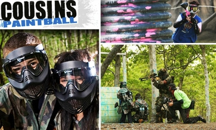 Cousins Paintball NYC - Multiple Locations: $25 for Admission, Gear Rental, and 500 Rounds at Cousins Paintball NYC ($50 Value)