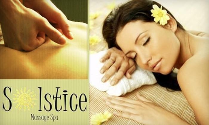 Solstice Massage Spa - Downtown Clovis: $60 for a Pamper Me Getaway Package at Solstice Massage Spa ($130 Value)