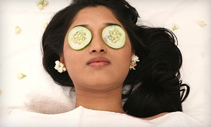 Anoo's Herbal Day Spa - Boca Raton: Manicure, Facial or Stone Massage, or Full-Face Threading at Anoo's Herbal Day Spa in Boca Raton