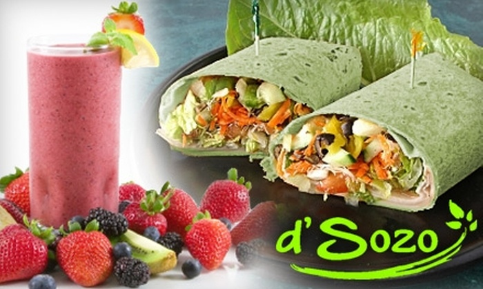d'Sozo - Stanley/Aley: $6 for $15 Worth of Smoothies, Crêpes, and More at d'Sozo