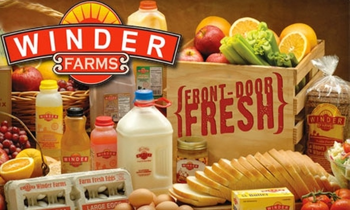Winder Farms: $20 for $50 Worth of Home-Delivered Groceries Plus Waived Sign-Up and Delivery Fees from Winder Farms ($68.50 Value)
