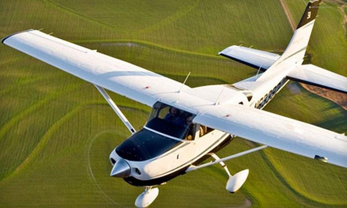 Burlington Aviation - Burlington: $99 for a 60-Minute Introductory Flight Lesson from Burlington Aviation ($198 Value)