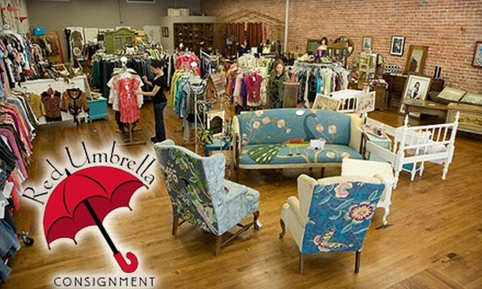 Red Umbrella Consignment - Petaluma: $10 for $20 Worth of Women's Apparel, Vintage Furniture, and More at Red Umbrella Consignment in Petaluma