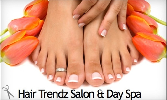 Hair Trendz Salon & Day Spa - Amarillo: $25 for a Mani-Pedi ($55 Value) or $99 for One Set of Eyelash Extensions ($250 Value) at Hair Trendz Salon & Day Spa