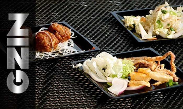 Zing Restaurant - Downtown Indianapolis: $25 for $50 Worth of Dinner Fare at Zing Restaurant (or $10 for $20 Worth of Lunch)