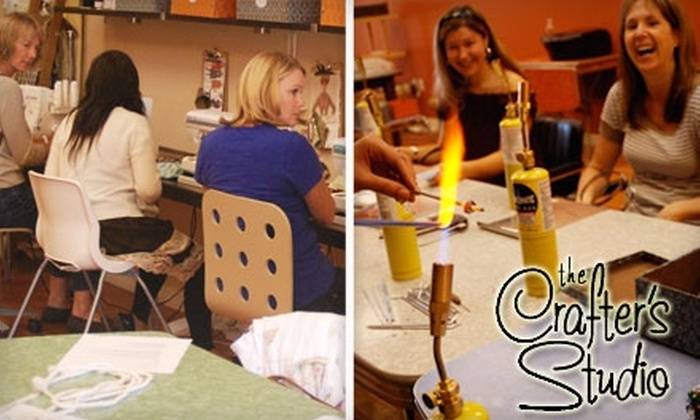 The Crafter's Studio - Downtown Santa Cruz: $40 for One Class at The Crafter's Studio (Up to $95 Value)