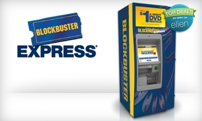 NCR Corporation - Athens, GA: $2 for Five One-Night DVD Rentals from Any Blockbuster Express ($5 Value)