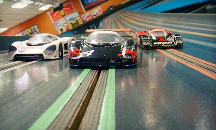 ASR Indoor Motor Sports Raceway - Longwood: 60-Minute Slot-Car Racing for Two or Four at ASR Indoor Motor Sports Raceway in Longwood (Up to 55% Off)
